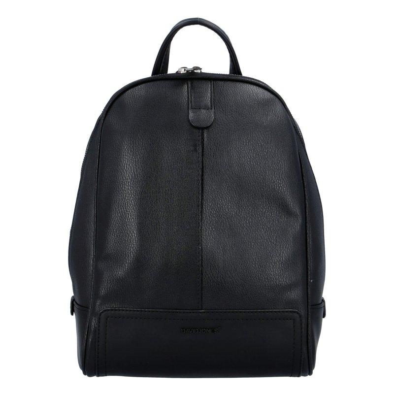 Městský koženkový batůžek Melanie, černý