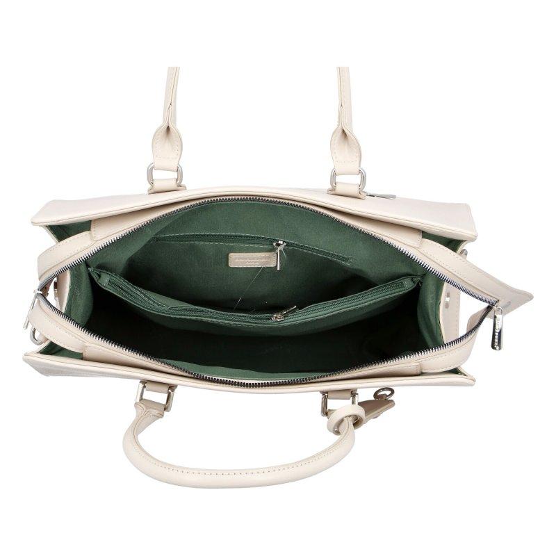 Dámská koženková kabelka Indila,béžová
