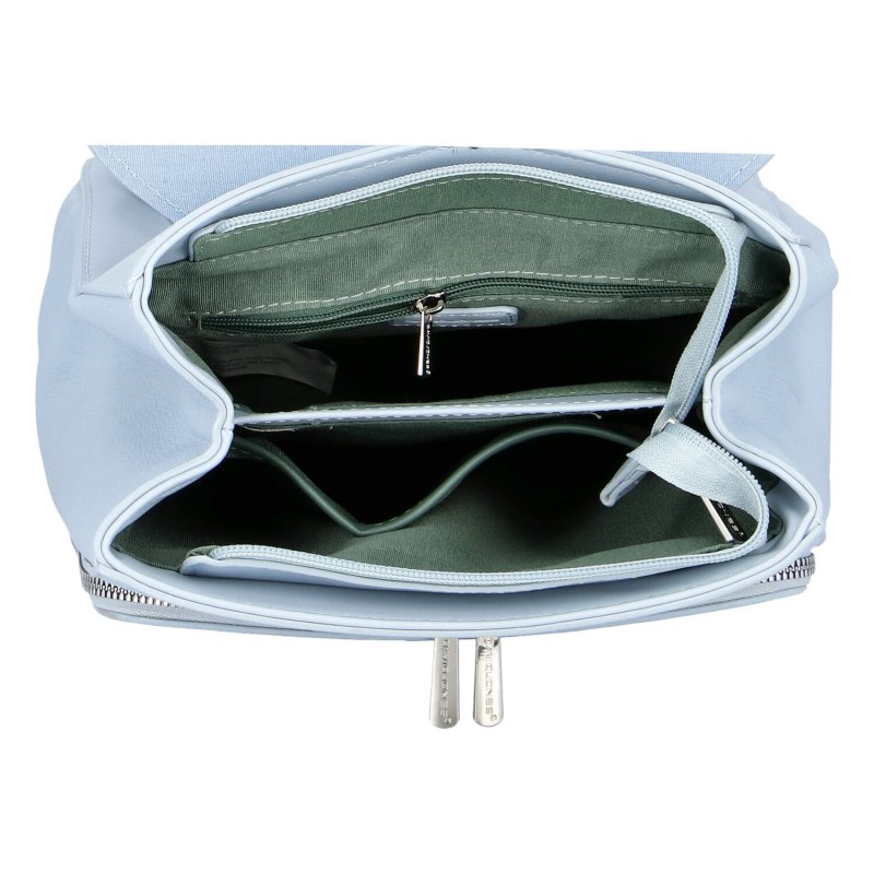 Dámský koženkový batoh Ema D.Jones, světle modrý