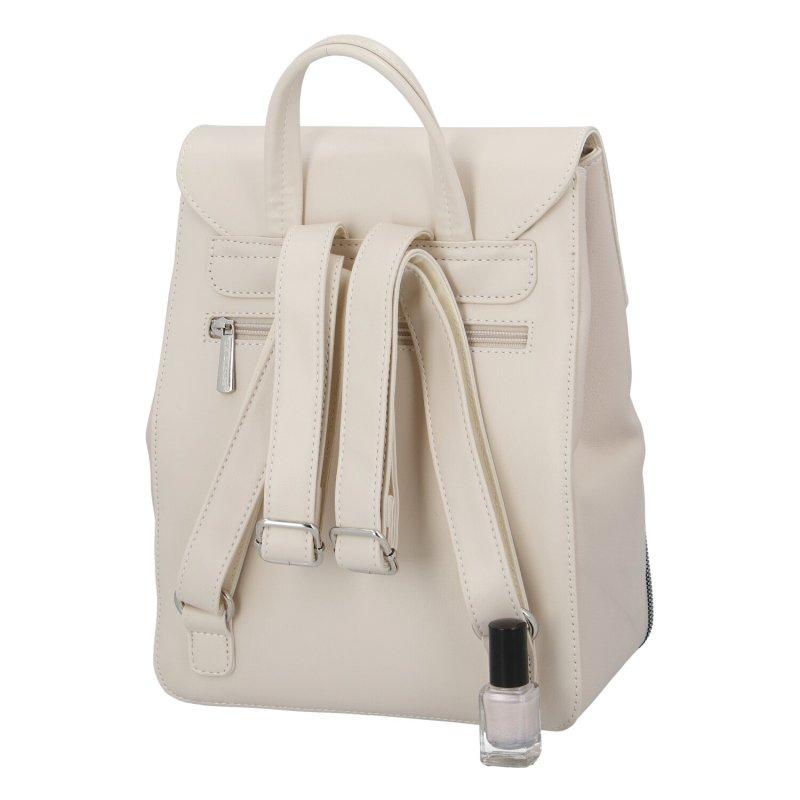 Dámský koženkový batoh Ema D.Jones, béžový