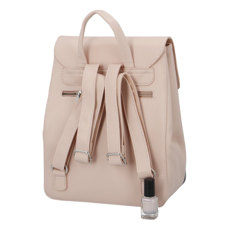 Dámský koženkový batoh Ema D.Jones, růžový