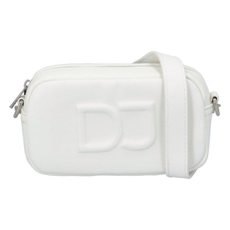 Moderní dámská koženková kabelka DJ Modern French, bílá
