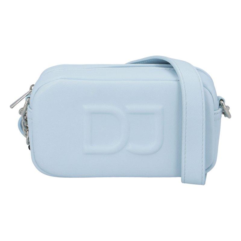Moderní dámská koženková kabelka DJ Modern French,světle modrá