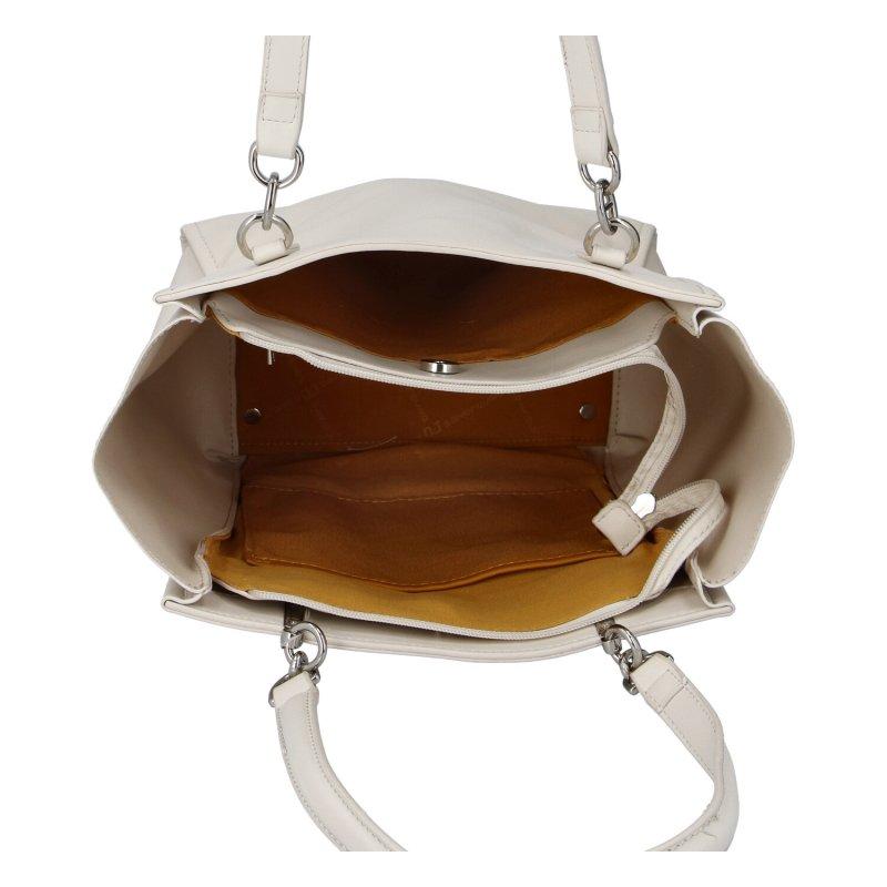 Dámská koženková kabelka přes rameno Hollie, béžová