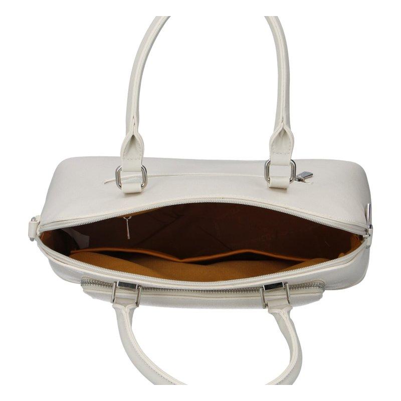 Dámská koženková kabelka Emra, béžová