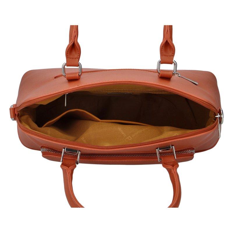 Dámská koženková kabelka Emra, lososová