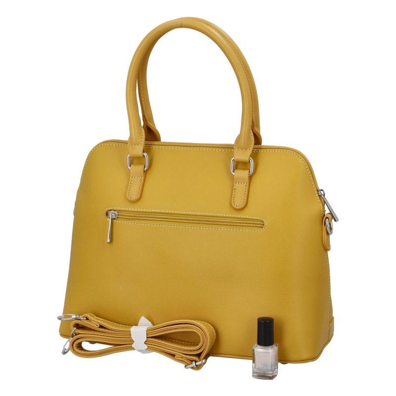 Dámská koženková kabelka Emra, žlutá