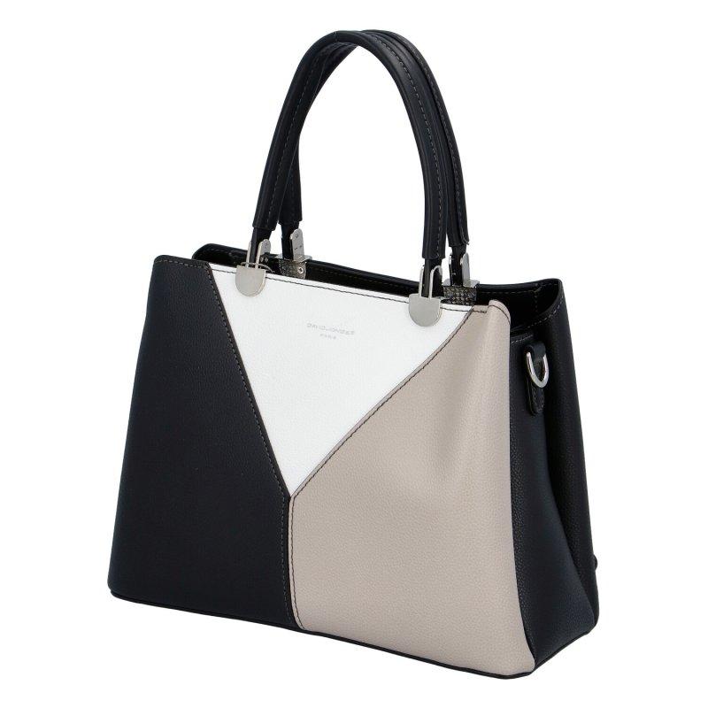 Elegantní dámská koženková kabelka Inas, černá