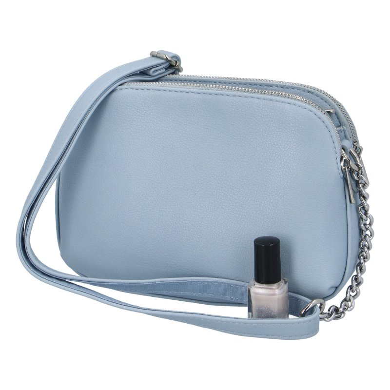 Menší dámská koženková kabelka Anjuška DJ, světle modrá