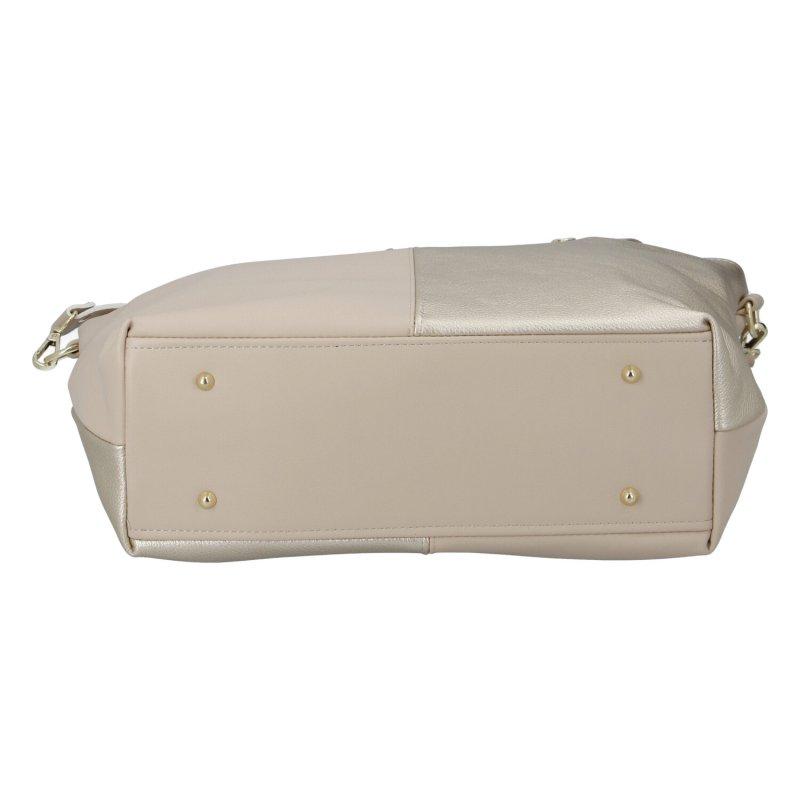 Působivá dámská kabelka Massimo Conti Lara, béžovo-zlatá