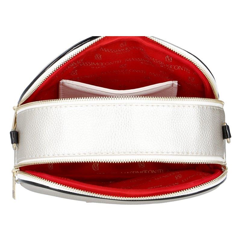 Moderní dámská koženková kabelka MASSIMO Princess, stříbrná
