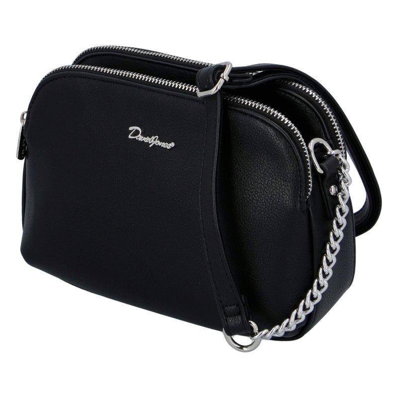 Menší dámská koženková kabelka Anjuška DJ, černá