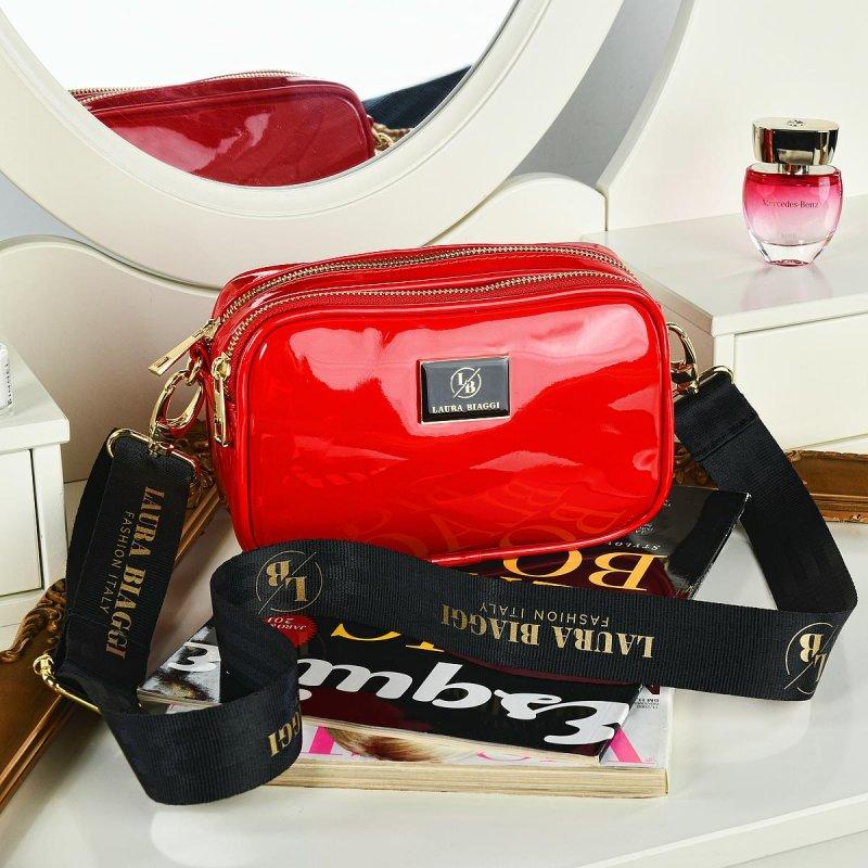 Dámská trendová koženková kabelka LB Emily, červená