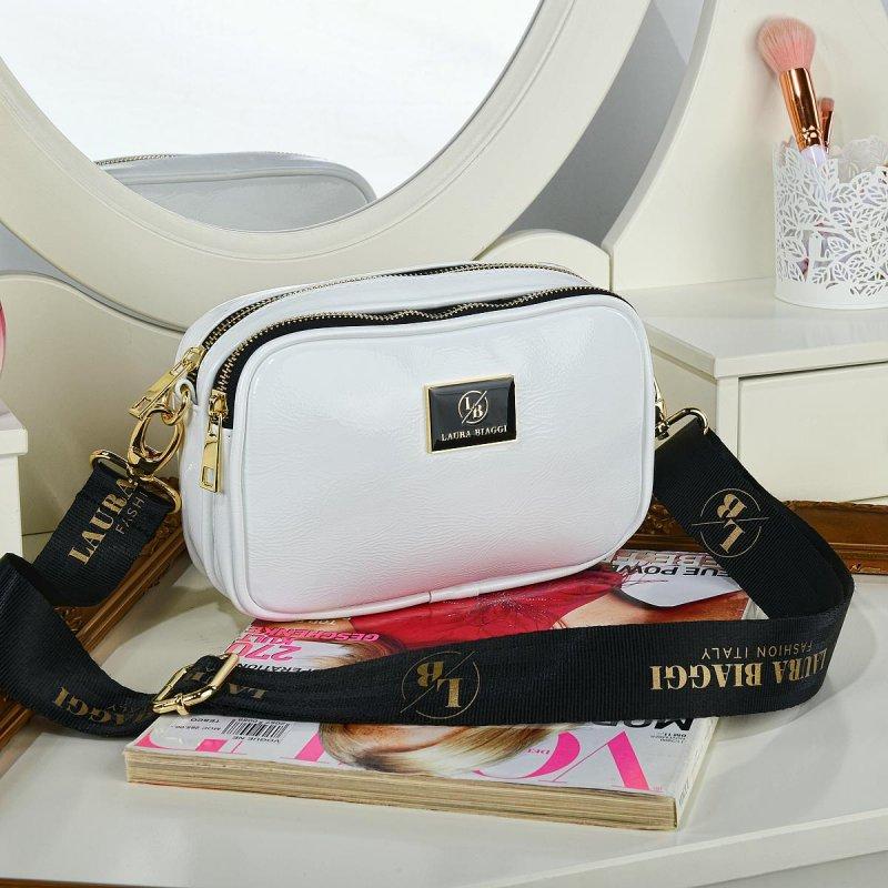 Dámská trendová koženková kabelka LB Emily, bílá