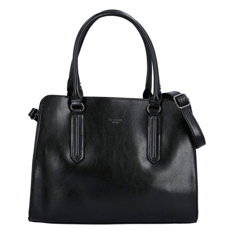 Praktická dámská koženková kabelka Anja, černá
