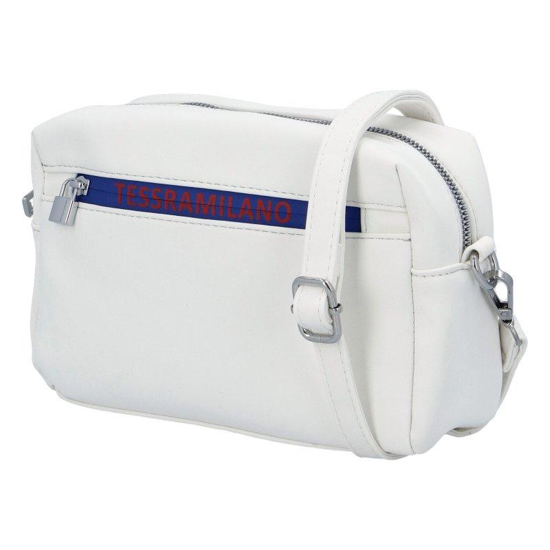 Moderní dámská koženková kabelka Indila, bílá