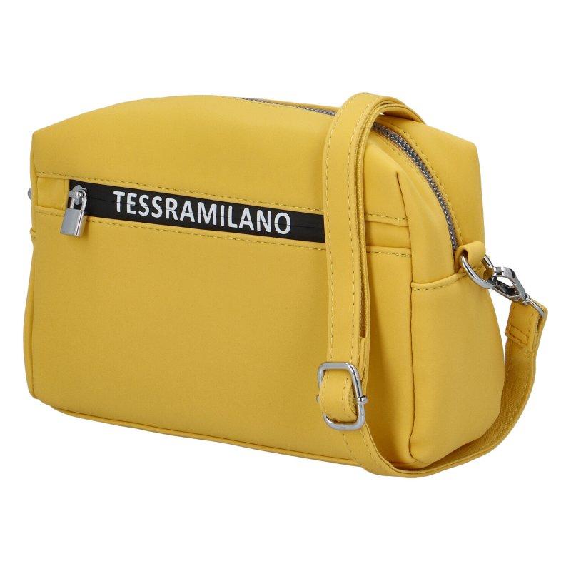 Moderní dámská koženková kabelka Indila, žlutá