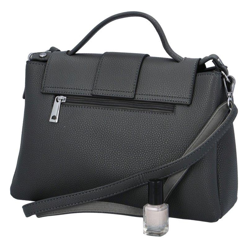 Dámská koženková kabelka Emina, šedá