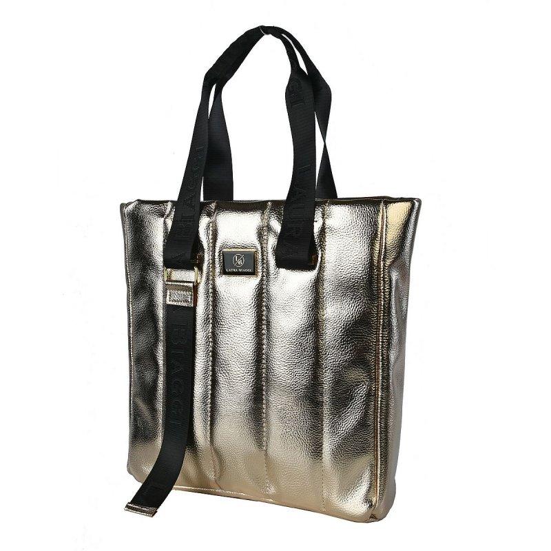 Luxusní dámská koženková kabelka LB Luxury gold,zlatá
