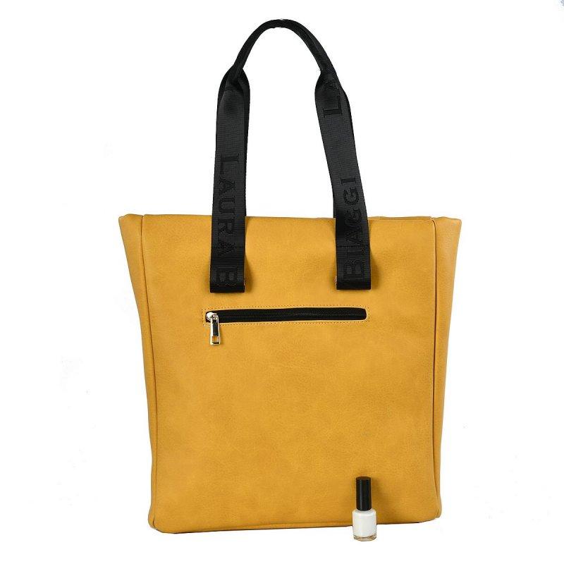 Luxusní dámská koženková kabelka LB Luxury yellow, žlutá