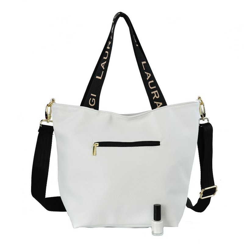 Moderní dámská koženková kabelka LB Modern Irma, bílá