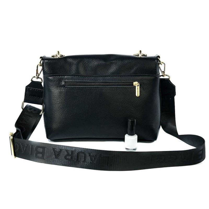 Dámská koženková kabelka LB  Emra, černo zlatá
