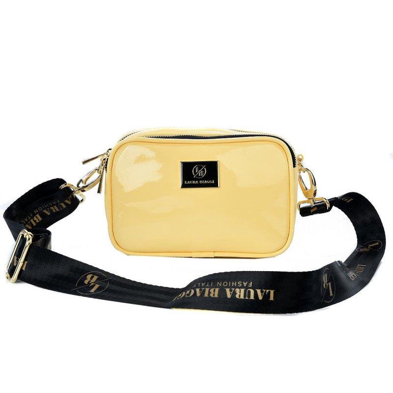 Trendová dámská koženková kabelka Laura B. Yellow dream, žlutá