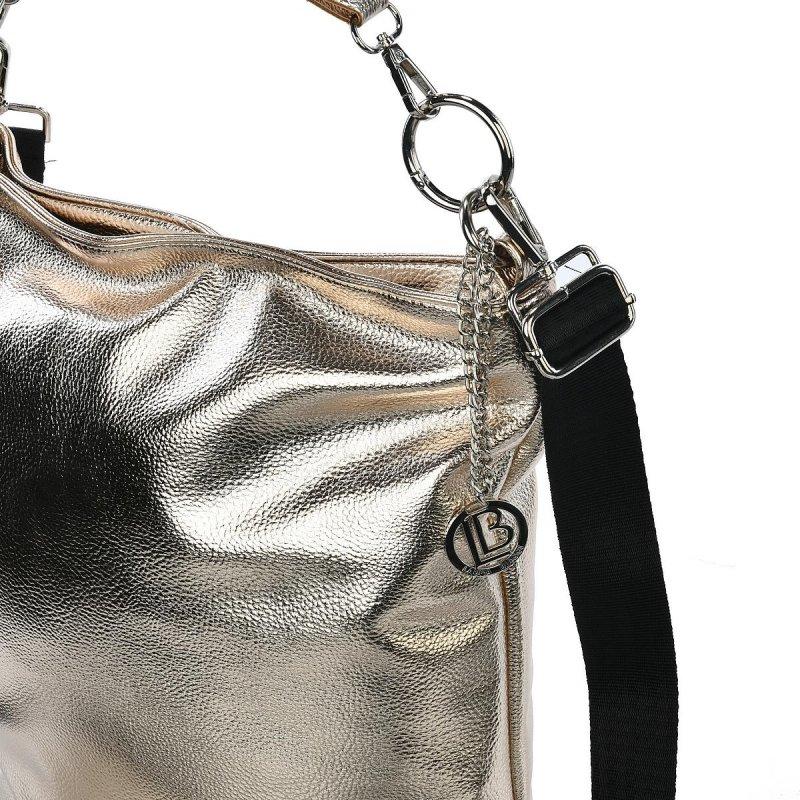 Dámská koženková kabelka LB Mirna style, zlatá