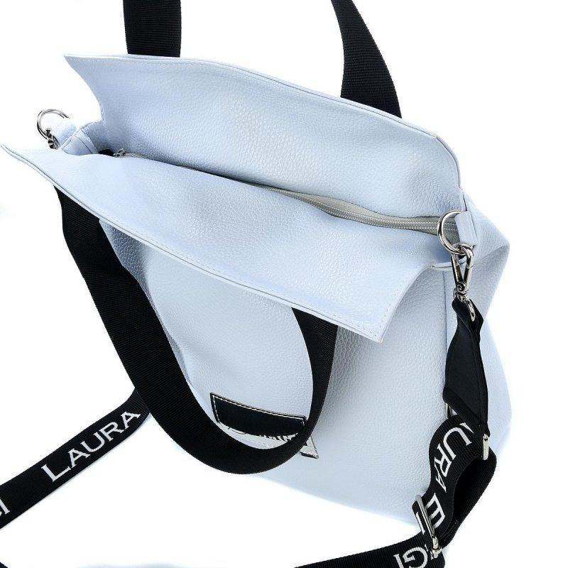 Stylová dámská koženková kabelka LB Linda, světle modrá
