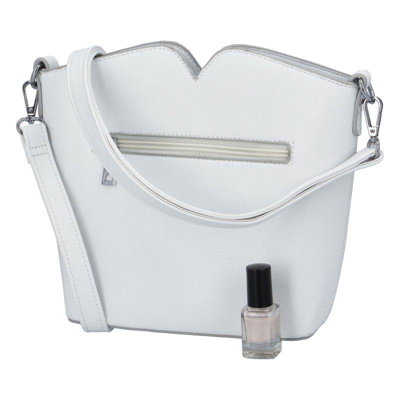 Praktická dámská koženková kabelka Ankica, bílá