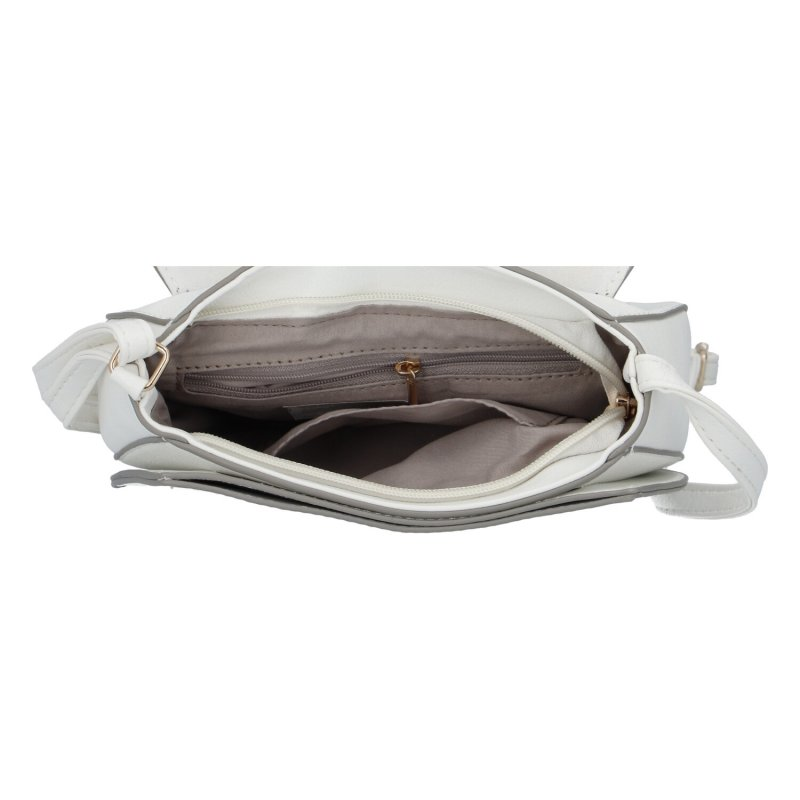 Elegantní dámská koženková kabelka Sandrina, bílá