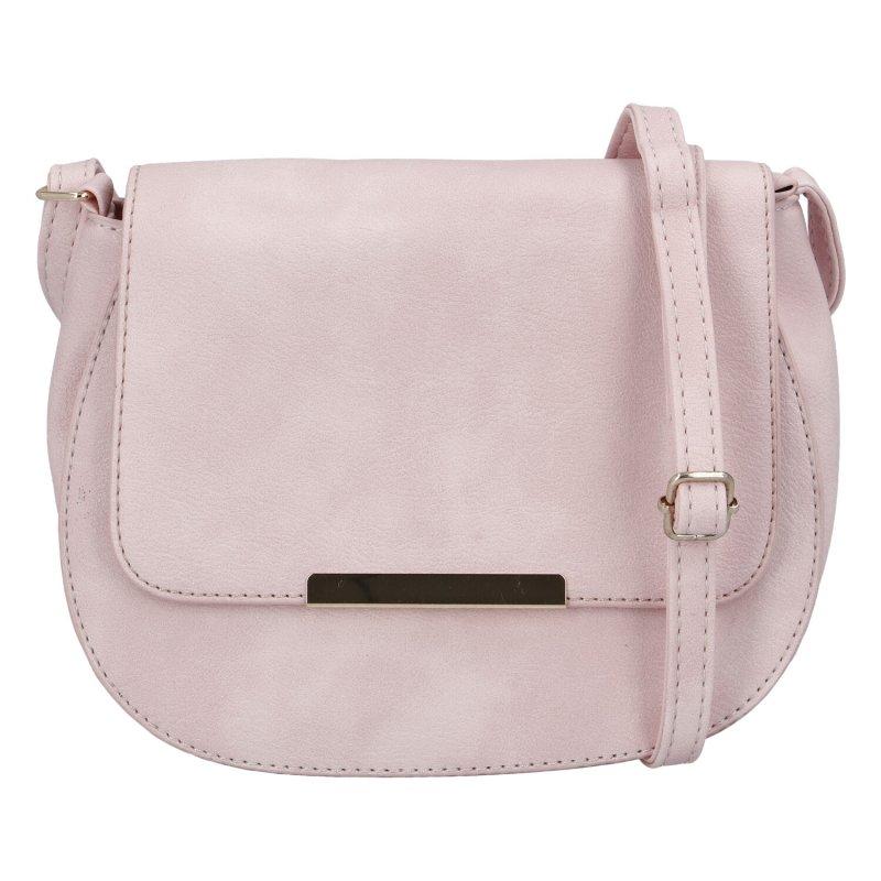 Elegantní dámská koženková kabelka Sandrina, růžová