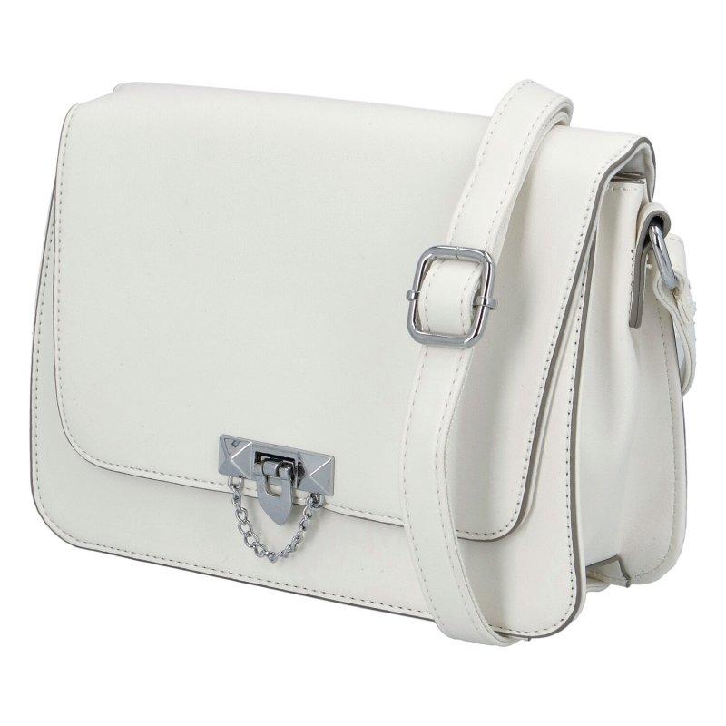 Dámská koženková kabelka Nina style, bílá
