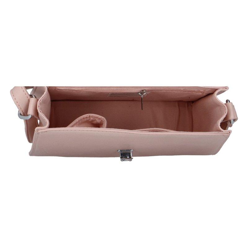 Dámská koženková kabelka Nina, růžová
