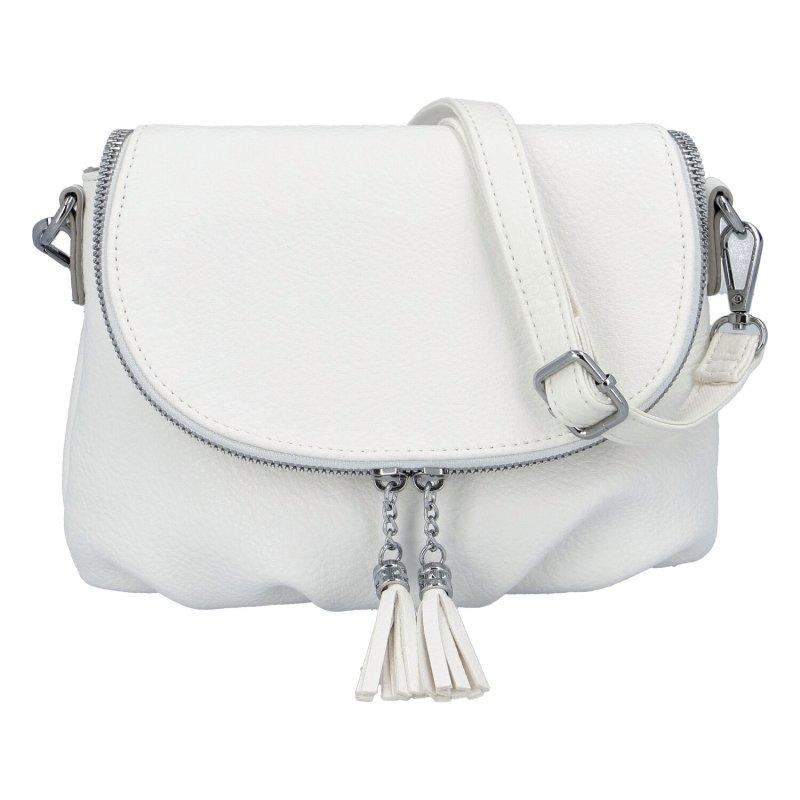 Stylová dámská koženková kabelka Lidija, bílá