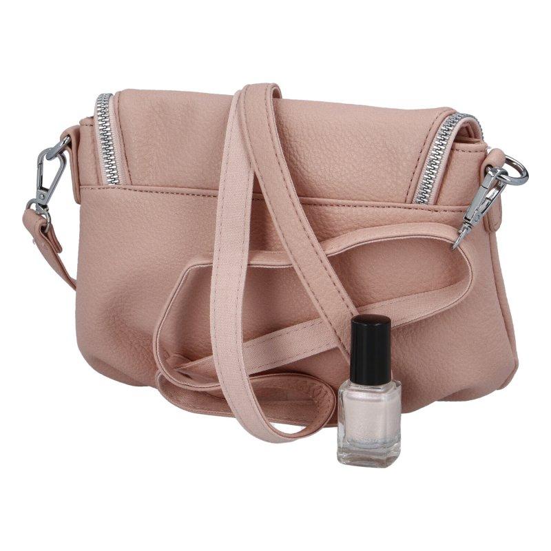 Stylová dámská koženková kabelka Lidija, růžová