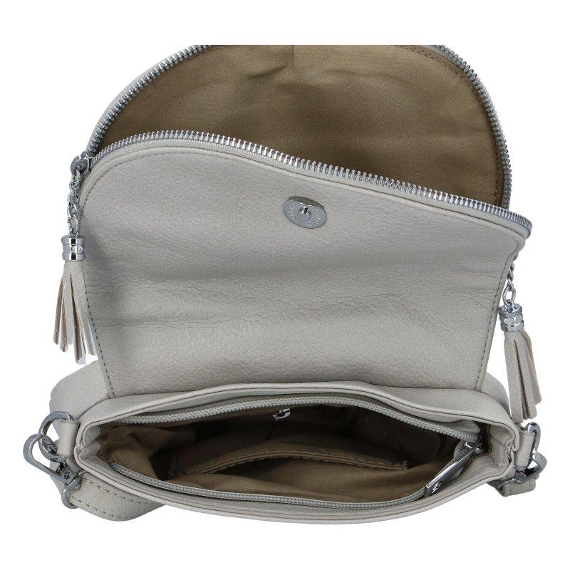 Stylová dámská koženková kabelka Lidija, šedá