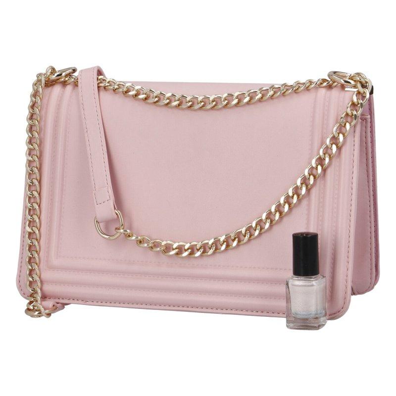 Moderní dámská koženková kabelka Nastasija, růžová