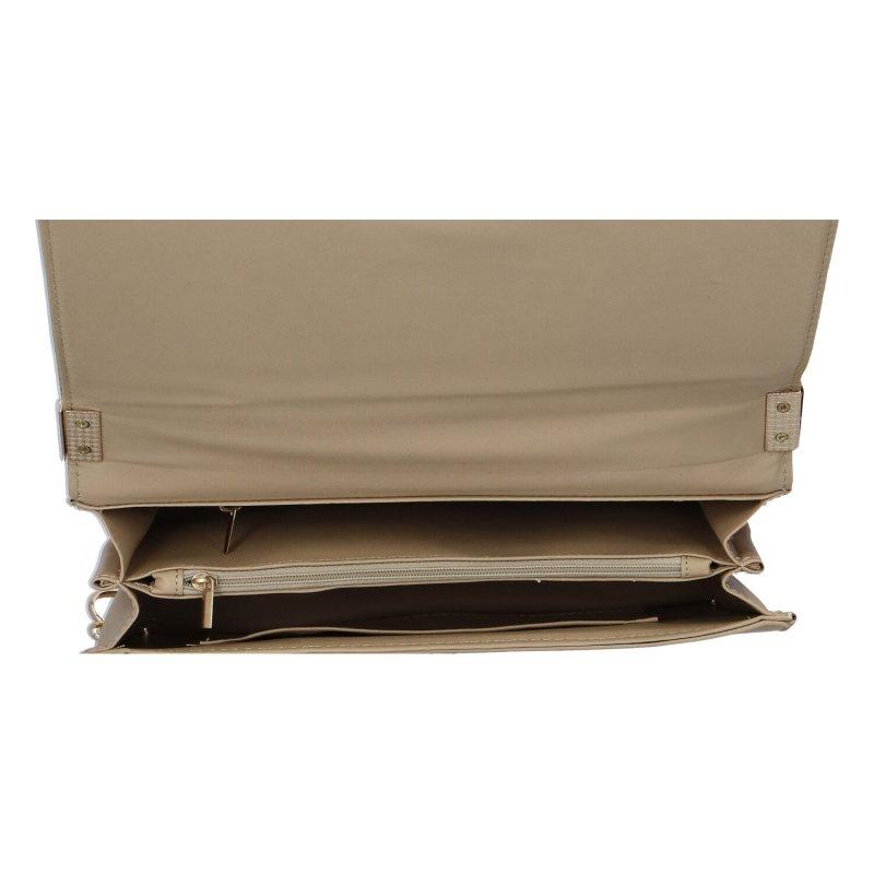 Moderní dámská koženková kabelka Nastasija, béžová