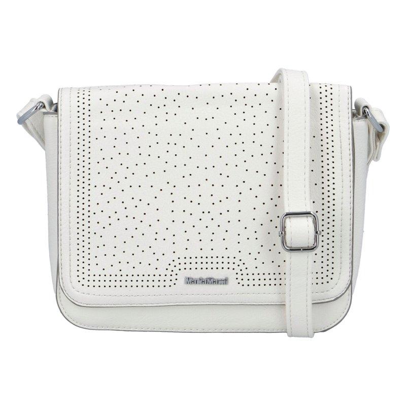 Moderní dámská koženková kabelka Semrina, bílá