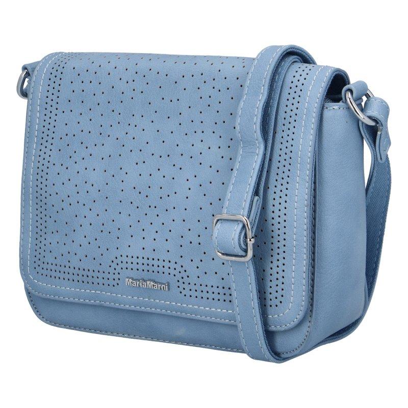 Moderní dámská koženková kabelka Semrina, modrá