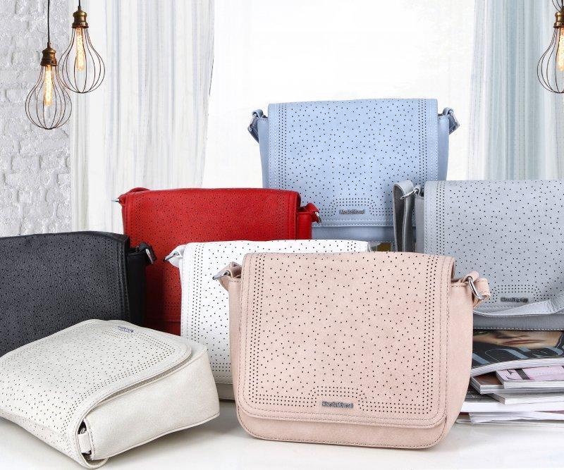 Moderní dámská koženková kabelka Semrina, růžová