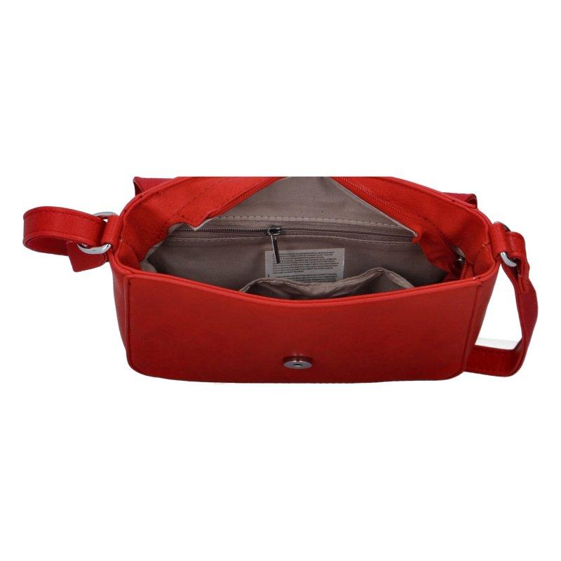 Moderní dámská koženková kabelka Semrina, červená