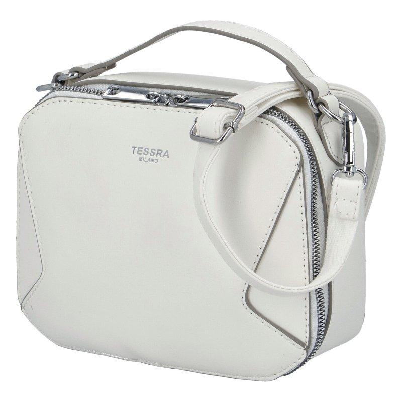 Stylová dámská koženková kabelka Sandrina, bílá