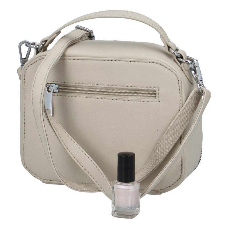Stylová dámská koženková kabelka Sandrina, béžová