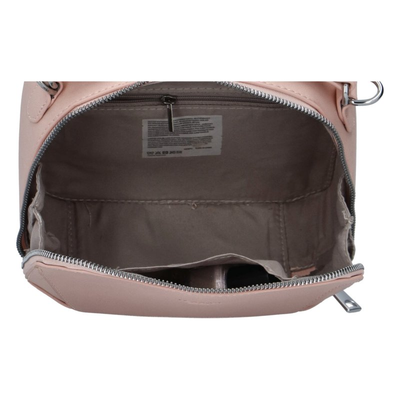 Stylová dámská koženková kabelka Sandrina, růžová