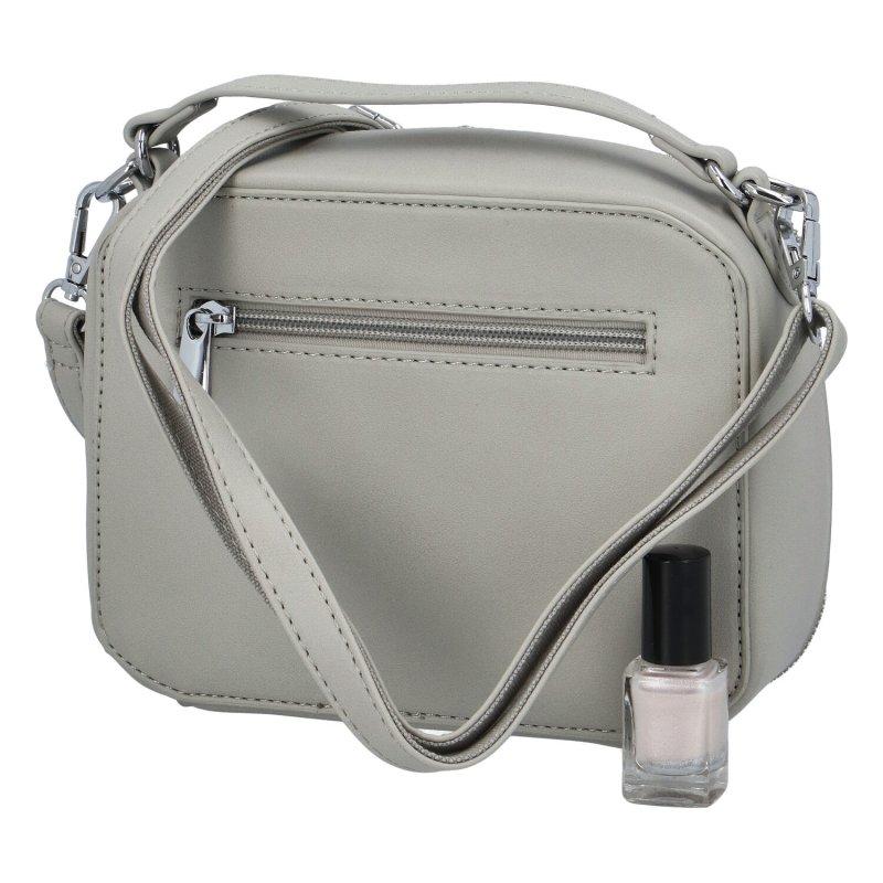 Stylová dámská koženková kabelka Sandrina, šedá