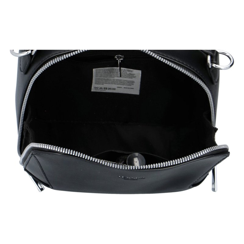 Stylová dámská koženková kabelka Sandrina, černá