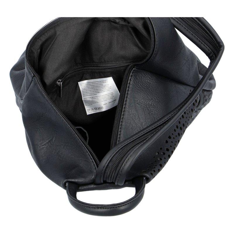 Dámský koženkový batůžek Ive, černý
