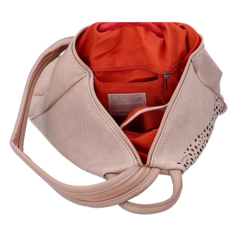 Dámský koženkový batůžek Ive,růžový